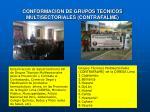 conformacion de grupos tecnicos multisectoriales contrafalme