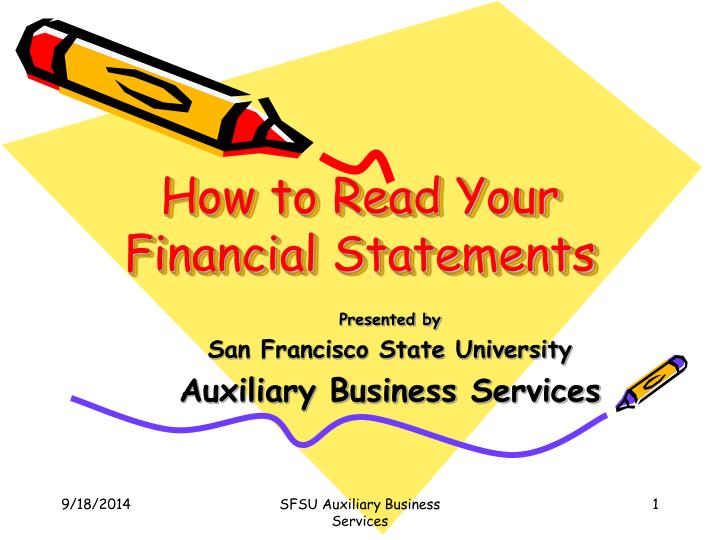 how to read your financial statements n.