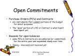 open commitments