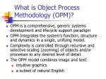 what is object process methodology opm