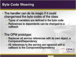 byte code weaving