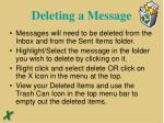 deleting a message