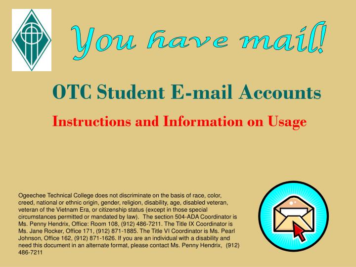 otc student e mail accounts n.
