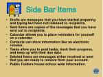 side bar items