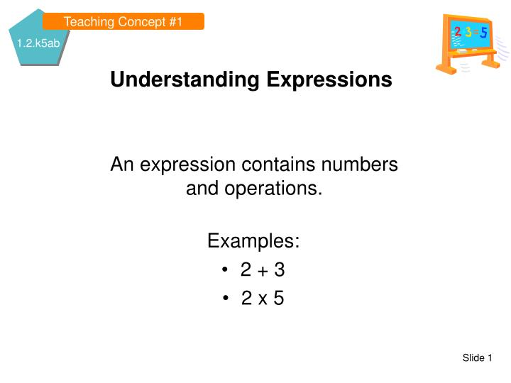 understanding expressions n.