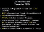 graduate results december 2009