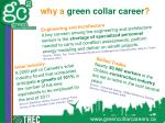 why a green collar career