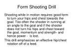 form shooting drill