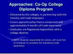 approaches co op college diploma program
