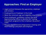 approaches find an employer