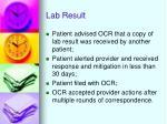 lab result
