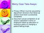 mercy case take aways