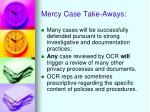 mercy case take aways1