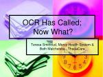 ocr has called now what