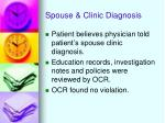 spouse clinic diagnosis