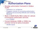authorization plans