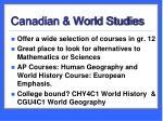 canadian world studies