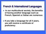 french international languages