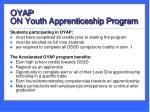 oyap on youth apprenticeship program