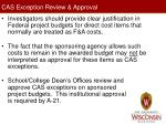 cas exception review approval
