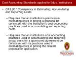 cost accounting standards applied to educ institutions1