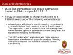 dues and memberships