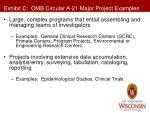 exhibit c omb circular a 21 major project examples