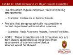 exhibit c omb circular a 21 major project examples2