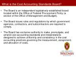 what is the cost accounting standards board