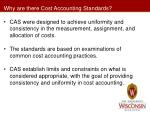 why are there cost accounting standards
