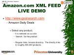 amazon com xml feed live demo