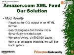 amazon com xml feed our solution