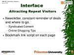 interface attracting repeat visitors1