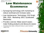 low maintenance ecommerce
