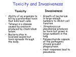 toxicity and invasiveness