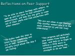 reflections on peer support