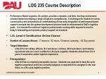 log 235 course description