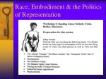 race embodiment the politics of representation