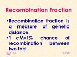 recombination fraction1