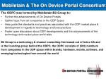 mobiletain the on device portal consortium