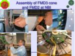 assembly of fmd3 cone and fmd2 at nbi