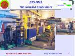 brahms the forward experiment