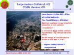large hadron collider lhc cern gen ve ch