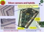 silicon sensors and hybrids