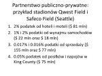 partnerstwo publiczno prywatne przyk ad stadion w qwest field i safeco field seattle