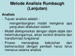 metode analisis rumbaugh lanjutan