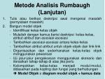 metode analisis rumbaugh lanjutan1