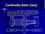 cardinality ratio lanj