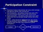 participation constraint