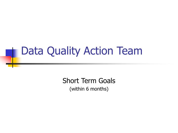 data quality action team n.